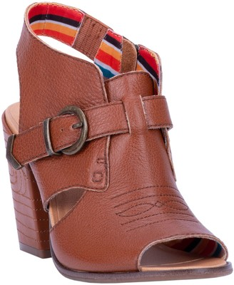 Dingo Open Toe Leather Slingback Sandals - Stirrup