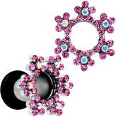 Body Candy Pink Snowflake Steel Tunnel Plug Set 4 Gauge