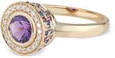 Ri Noor Diamond Amethyst Rhodolite & Blue Sapphire Ring