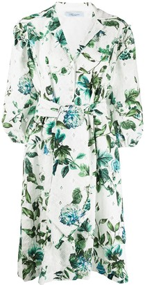 Blumarine Floral-Print Shirt Dress