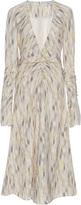 Prabal Gurung Long Sleeve Ruched Silk Dress