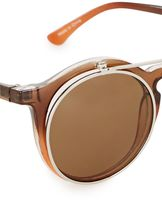 Jeepers Peepers Crystal Brown Clip Lens Sunglasses*