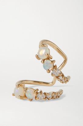 Sebastian Chroma Gold, Opal And Diamond Ear Cuff - one size