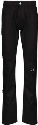Raf Simons ring detail slim-fit jeans