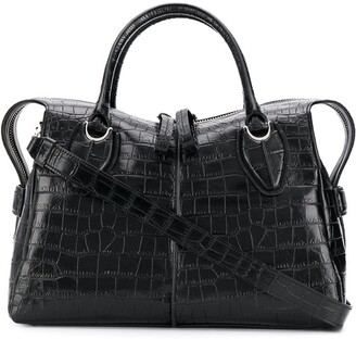 Tod's embossed crocodile effect tote