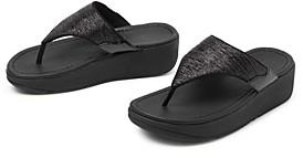 FitFlop Women's Myla Glitz Thong Platform Sandals