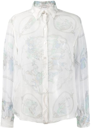 Hermes Pre-Owned Lace Organza Shirt