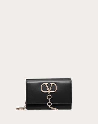 Valentino Small Vcase Smooth Calfskin Bag Women Black OneSize