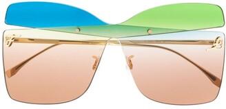 Fendi Eyewear Karligraphy oversized frame sunglasses