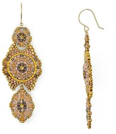 Miguel Ases Blush Chandelier Drop Earrings