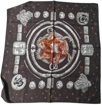 Hermes Brown Silk Scarves