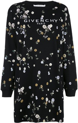 Givenchy Floral Print Sweatshirt Dress