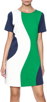 Jade 60's Print Dress