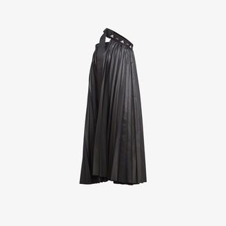 adidas X HYKE one shoulder pleated dress