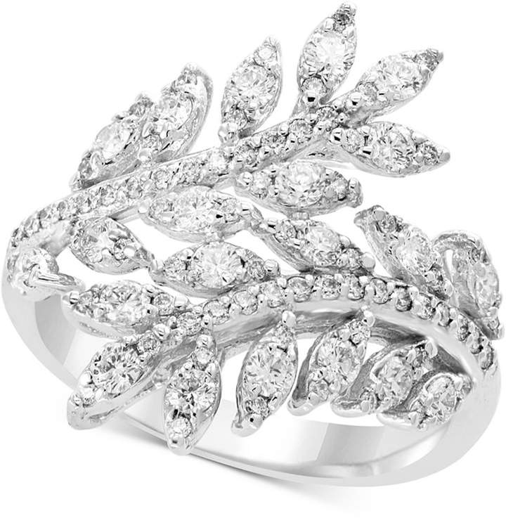 Effy Pave Classica by Diamond Vine Bypass Ring (1 ct. t.w.) in 14k White Gold