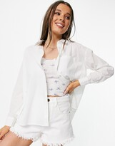 Thumbnail for your product : Pimkie poplin shirt in white