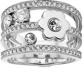 Michael Kors In Full Bloom Floral and Crystal Accent Stacked Ring Ring