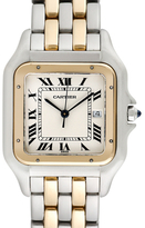 Cartier Vintage Panthere 18K Yellow Gold & Stainless Steel Watch