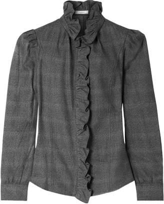 Etoile Isabel Marant Ruffle-trimmed Cotton Shirt