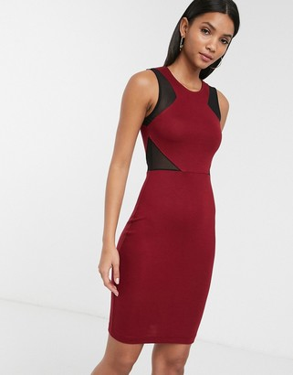French Connection Manhattan mesh paneled dress
