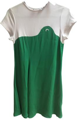 Marine Serre Green Cotton Dresses