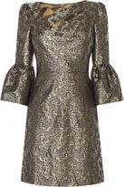 Karen Millen Jacquard Bell Sleeve Dress