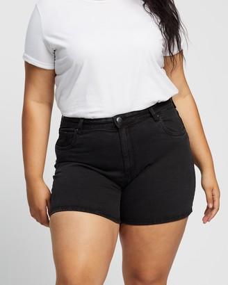 Cotton On Curve Curve Mom High-Waisted Denim Shorts