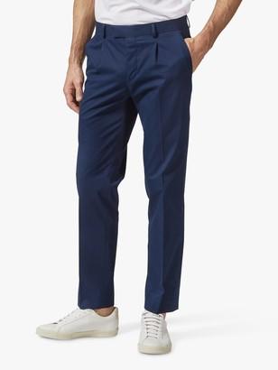 Richard James Mayfair Italian Cotton Tailored Suit Trousers, Navy