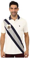 U.S. Polo Assn. Diagonal Striped Pique Polo