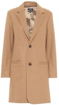A.P.C. Carver wool-blend coat