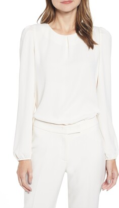 Anne Klein Puff Shoulder Long Sleeve Blouse