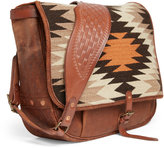 Ralph Lauren Tumbled Leather Messenger Bag
