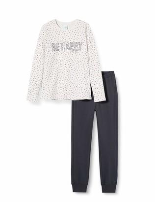 Sanetta Girl's Schlafanzug Ecru Melange Pajama Set