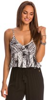 Hawaiian Tropic Sunrise to Sunset Palm Print Ruffle Tank 8146625