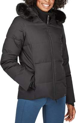 Sweaty Betty North Pole Quilted Primaloft® Hooded Jacket with Faux Fur Trim