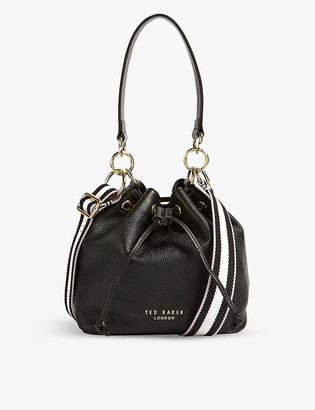 Ted Baker Aminah webbing-strap leather bucket bag