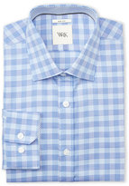 wrk Blue Suiting Check Slim Fit Dress Shirt