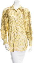 Roberto Cavalli Embellished Long Sleeve Blouse