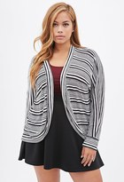 Forever 21 FOREVER 21+ Plus Size Striped Open-Front Cardigan