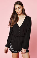 KENDALL + KYLIE Kendall & Kylie Embroidered Long Sleeve Romper