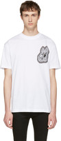 McQ White bunny Be Here Now T-shirt