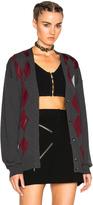 Alexander Wang Argyle Cardigan Sweater