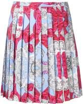 Versace Signature print pleated skirt
