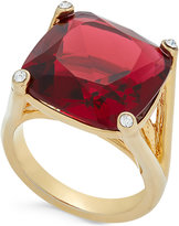 Kate Spade Hidden Gems Gold-Tone Geometric Crystal Ring