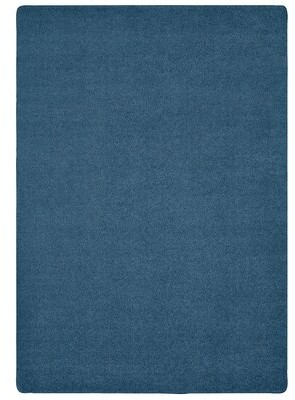 Carpets for Kids Soft Solids KIDply Denim Blue Area Rug Rug Size: 6' x 9'