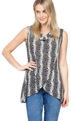 M&Co Izabel abstract print tunic top