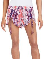 Betsey Johnson Tie-Dyed Snake Print Shorts
