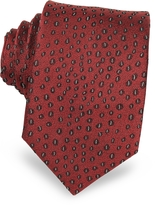 Lanvin Abstract Woven Twill Silk Narrow Tie