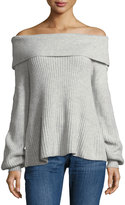 Marled by Reunited Fold-Over Off-The-Shoulder Sweater