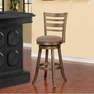 "Zaquan Swivel Bar & Counter Stool Gracie Oaks Seat Height: Bar Stool (29"" Seat Height)"